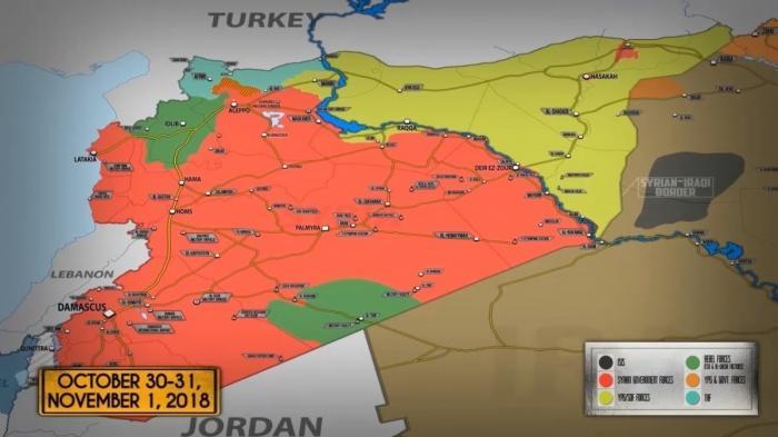 1 ноября 2018. Военная обстановка в Сирии. Россия поставила Сирии системы управления ПВО