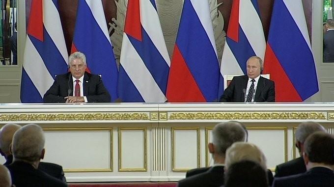 Владимир Путин и Диас-Канель Бермудес выступили поитогам российско-кубинских переговоров