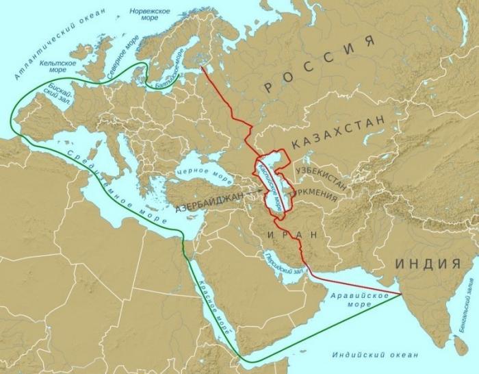 Россия, Индия и Иран в ноябре обсудят проект транспортного коридора «Север-Юг»