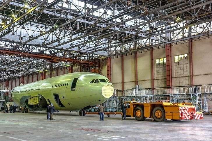 Двадцать пятый Ил-96-300— вцехе окончательной сборки ВАСО