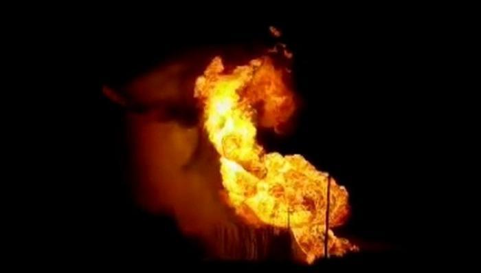 Рязань. Гигантский столб пламени – прорвало газопровод