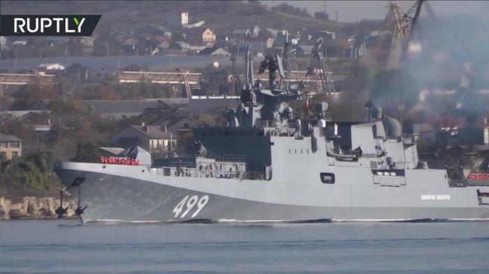 Фрегат «Адмирал Макаров», вооружённый ракетами «Калибр-НК», направился в Средиземное море