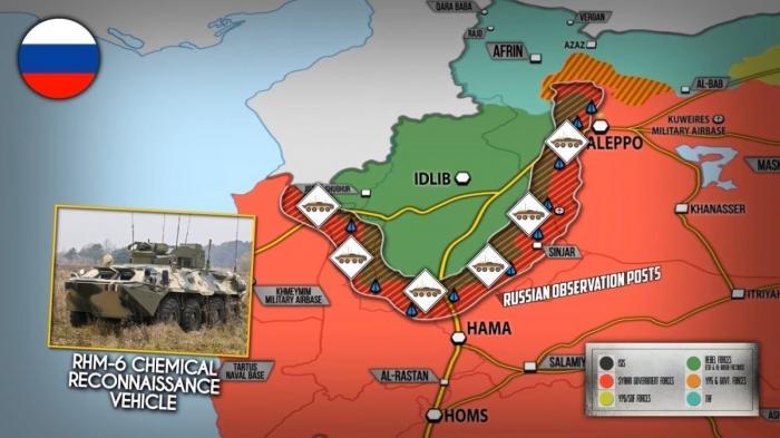 Сирия. Россия направила в Идлиб машины РХМ-6