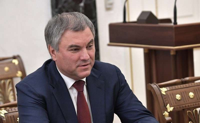 Председатель Государственной Думы Вячеслав Володин перед началом совещания спостоянными членами Совета Безопасности.