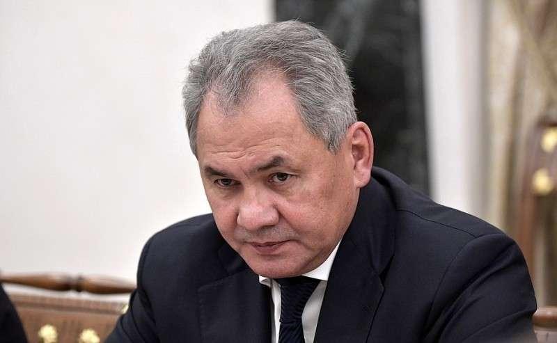 Министр обороны Сергей Шойгу перед началом совещания спостоянными членами Совета Безопасности.