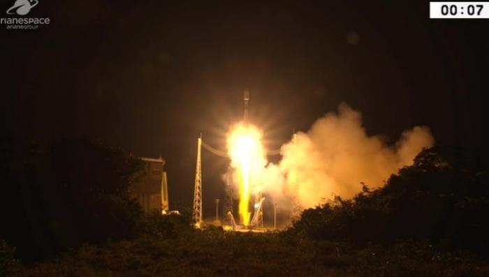 Ракета-носитель «Союз» вывела на орбиту европейский метеорологический спутник