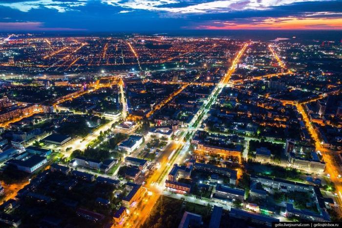 Барнаул – столица Алтайского края свысоты
