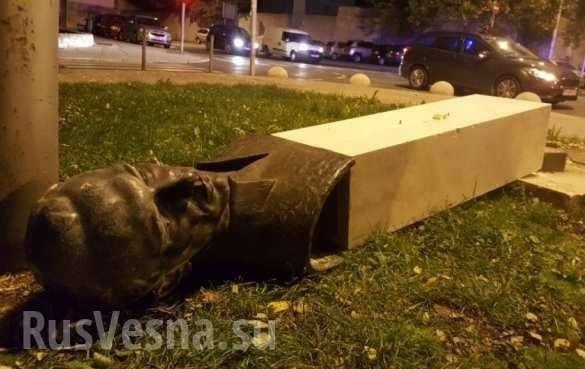 Памятник антифашисту сломал ногу валившему его вандалу в символическую дату | Русская весна