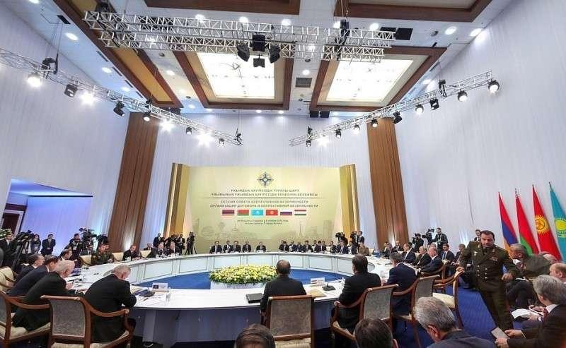 Заседание Совета коллективной безопасности ОДКБ врасширенном составе.