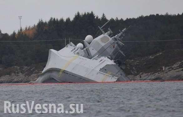 Фрегат НАТО лёг на бок и затонул, возвращаясь с учений против России