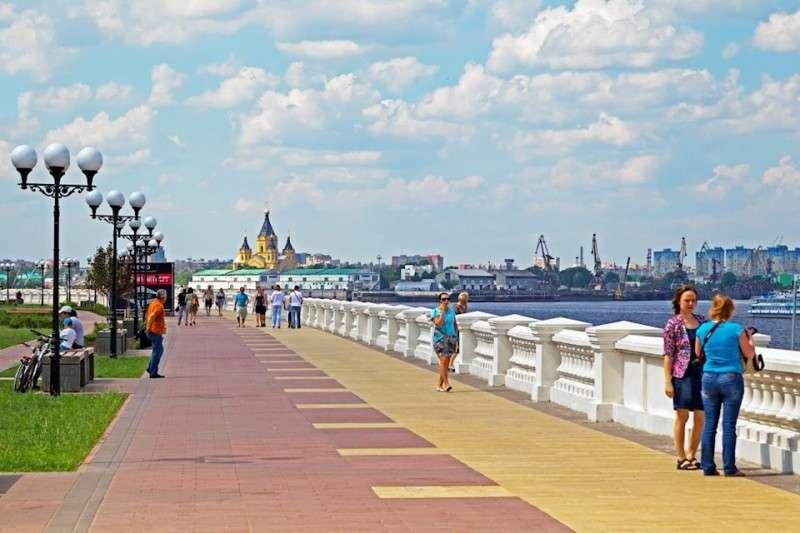 Новая набережная в городе Нижний Новгород