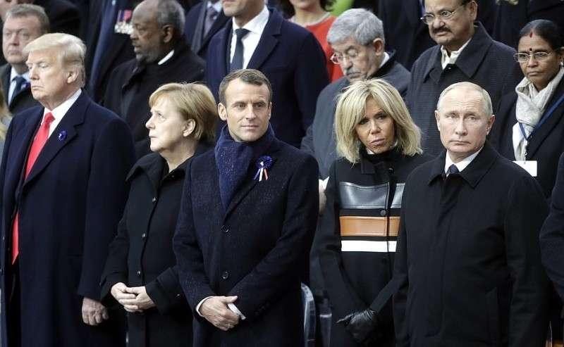 Владимир Путин в Париже на церемонии празднования 100-летия окончания Первой мировой войны