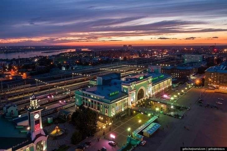 Новосибирск с ;высоты: самый большой город Сибири