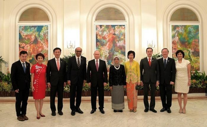 В Сингапуре в честь Владимира Путина состоялся государственный приём