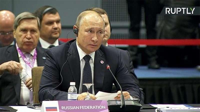 Путин о сотрудничестве России со странами Азии: в 2017 году товарооборот увеличился на 35%