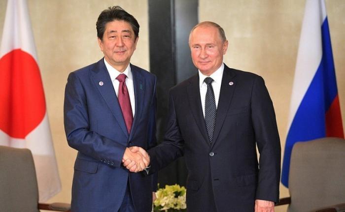 Владимир Путин в Сингапуре встретился с Премьер-министром Японии Синдзо Абэ
