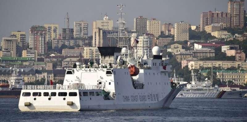 Международные совместные учения кораблей береговой охраны во Владивостоке