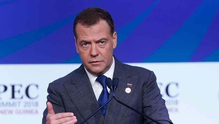Дмитрий Медведев встретился с Майклом Пенсом на саммите АТЭС