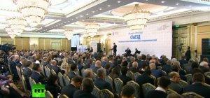 Президент Владимир Путин принимает участие в съезде РСПП