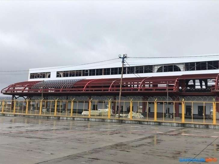 Ход строительства нового аэровокзала в Южно-Сахалинске