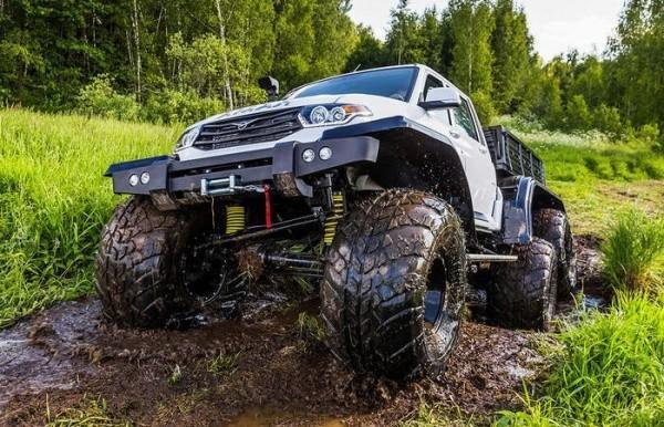 Огромные внедорожники «Ямал» кардинально меняют представление об автомобилях УАЗ
