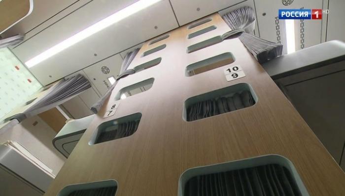 Новый плацкартный вагон будущего представила РЖД на выставке «Транспорт России»
