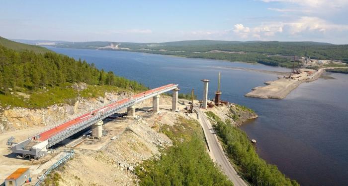 Мурманск. Строительство железнодорожного моста через реку Тулому