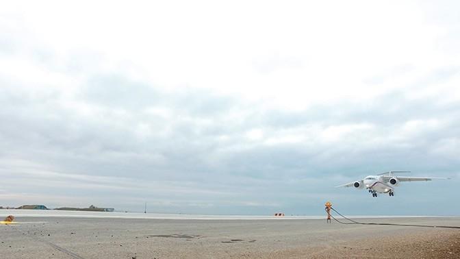Крым. На аэродроме Бельбек завершили строительство первой очереди