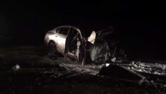 Под Иркутском безмозглый лихач на Лексусе протаранил БТР на скорости 170 км/ч