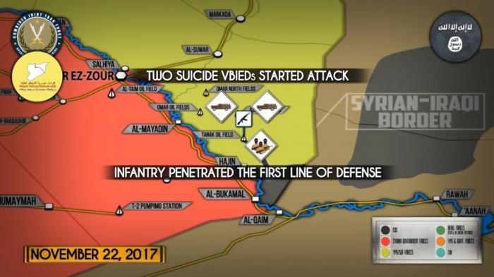 Сирия. Атака ИГИЛ на позиции проамериканских курдов