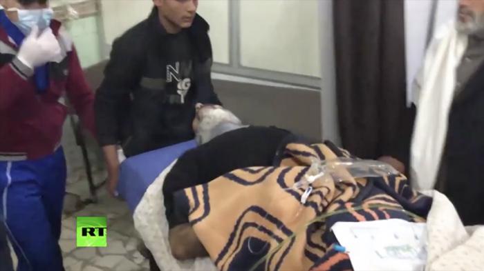 Видео последствий химической атаки в Алеппо опубликовало Министерство обороны России