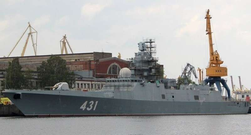 В Петербурге показали самый современный российский фрегат «Адмирал Касатонов»