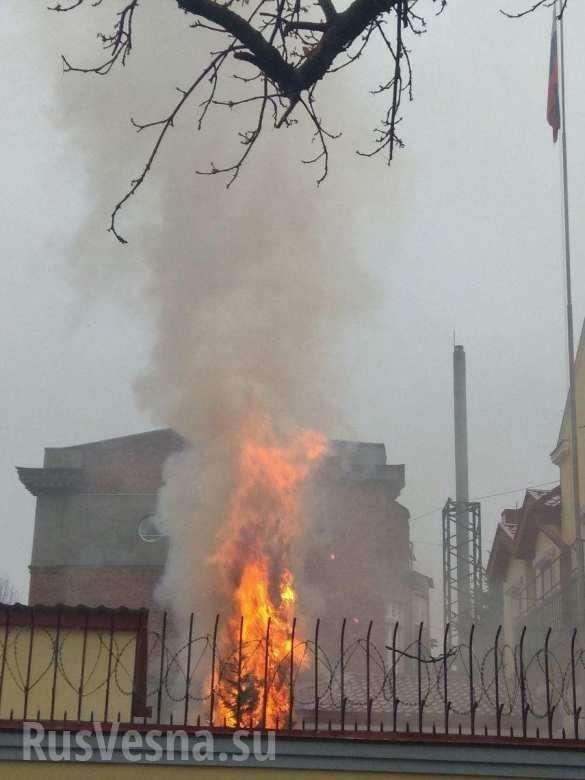 СРОЧНО: Неонацисты подожгли российское консульство вХарькове (ФОТО, ВИДЕО) | Русская весна