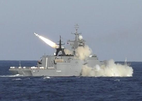 Новейший корвет «Громкий» впервые выполнил пусккрылатой ракеты «Уран» поморской цели