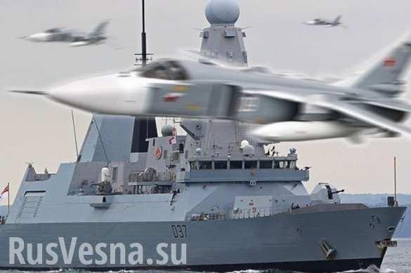 17российских самолётов «атаковали» новейший Британский эсминец «Дункан» у берегов Крыма
