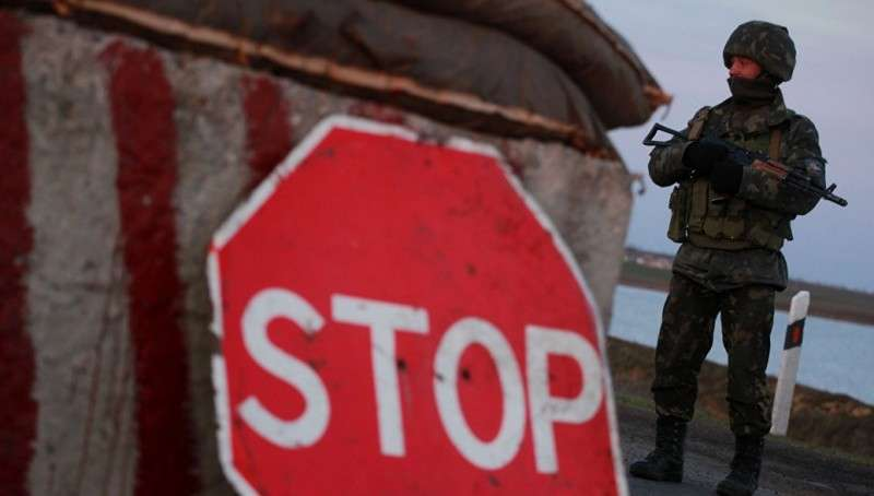 Еврейская хунта Украины запретила гражданам России пересекать границу с Крымом