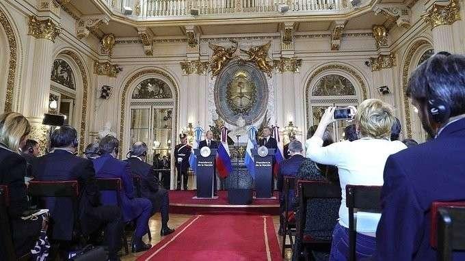 Заявление для прессы поитогам переговоров сПрезидентом Аргентины Маурисио Макри