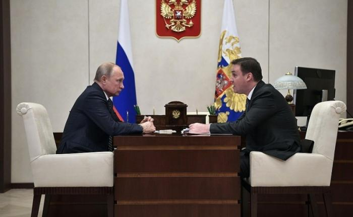 Владимир Путин провёл рабочую встречу с Министром сельского хозяйства Дмитрием Патрушевым