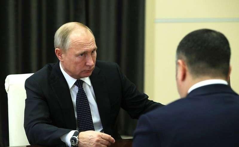 Входе рабочей встречи сгубернатором Тверской области Игорем Руденей.