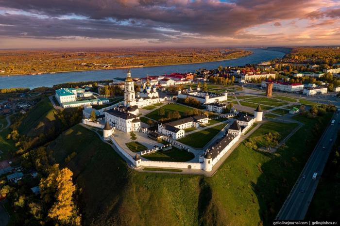 Красавец Тобольск. Бывшая столица Сибири свысоты птичьего полёта