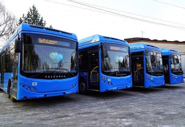 ВХабаровск прибыла партия автобусов «Волгобас», работающих нагазе