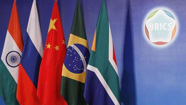 Флаги стран-участников БРИКС, архивное фото