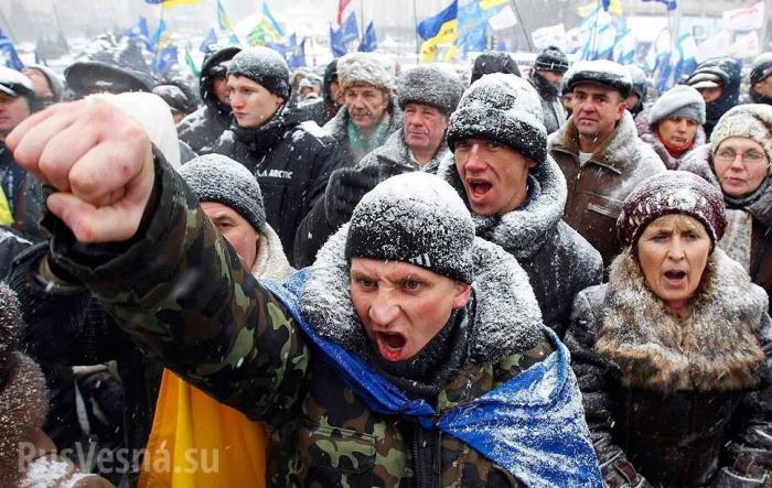 Украинцы взяли штурмом супермаркет. Однозначно цэевропа