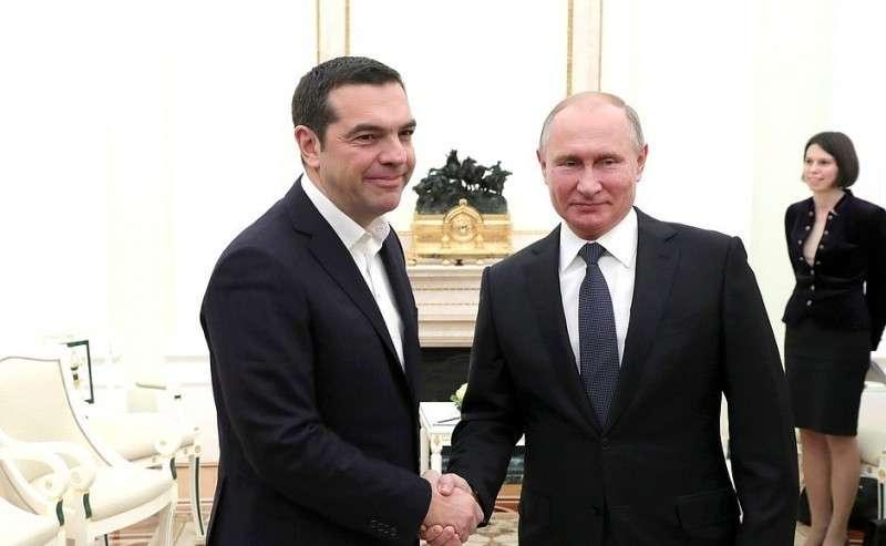 Владимир Путин провёл переговоры с Премьер-министром Греции Алексисом Ципрасом