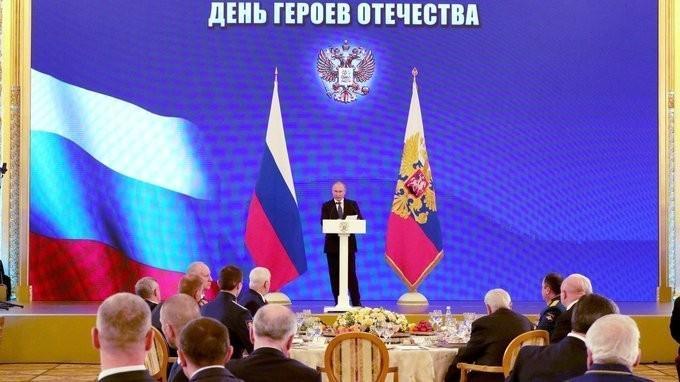 В Кремле состоялся торжественный приём по случаю празднования Дня Героев Отечества