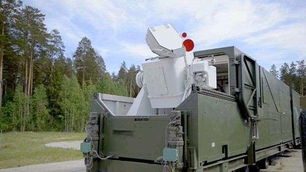 Боевой лазерный комплекс Пересвет в боевом положении