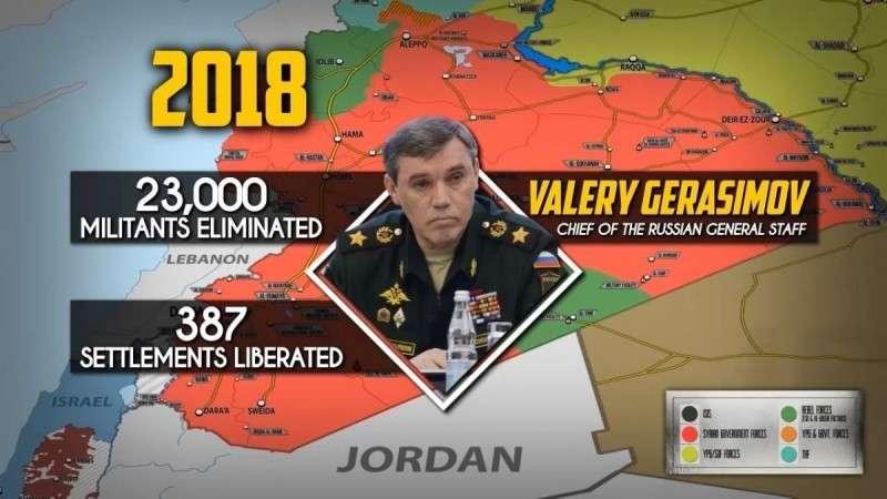 Сирия. Генштаб Россия объявил о боевых результатах 2018 года