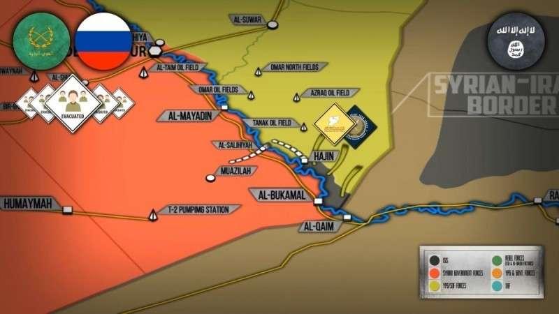Армии России и Сирии вывели мирных жителей из котла ИГИЛ