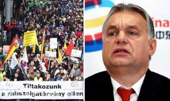 В Будапеште тысячи венгров вышли на протест против «рабских законов»