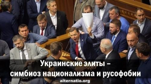 Украинские элиты – симбиоз национализма и русофобии